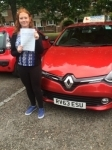 Megan passed with Independent Driving School