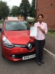 Sajana passed with Independent Driving School