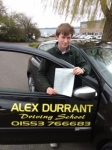 Tom Cork passed with Alex Durrant Driving School