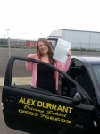 Samantha McCalmont passed with Alex Durrant Driving School