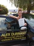 Nicola Sayer passed with Alex Durrant Driving School