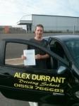Neil Jenner Akehurst passed with Alex Durrant Driving School