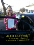 Tammy Ellwood passed with Alex Durrant Driving School