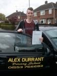 Daniel Shead passed with Alex Durrant Driving School