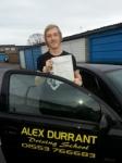 Jordon Lambourne passed with Alex Durrant Driving School