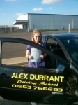 Sophie Cane passed with Alex Durrant Driving School