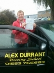Craig Brown passed with Alex Durrant Driving School