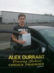 Jack Thorn passed with Alex Durrant Driving School