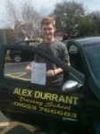 Oliver Groves passed with Alex Durrant Driving School