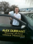 Bradley Lake passed with Alex Durrant Driving School