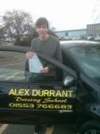 Elliot Blazer passed with Alex Durrant Driving School