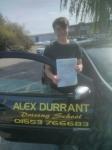 Aaron Walker passed with Alex Durrant Driving School