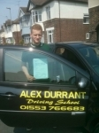 Jacob Medlock passed with Alex Durrant Driving School
