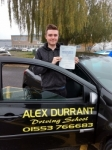 Liam Howorth passed with Alex Durrant Driving School