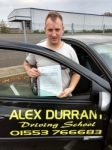 Mark Vice passed with Alex Durrant Driving School