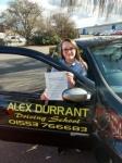 Tenika Sirju passed with Alex Durrant Driving School