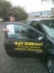 Jamie Goldsmith passed with Alex Durrant Driving School