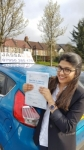 Bushra passed with Jassal Driving School