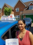 Reena - Passed! Slough June 2018 passed with Jassal Driving School