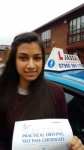 Komal - Passed 1st Time - Slough Oct 2017 passed with Jassal Driving School