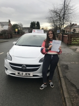 A great drive for Carys yesterday passing the new style driving test in Wrexham with 7 minors. Safe driving in your Clio 🚗...