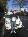 Dylan passed with Burwell Driving School