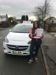Carys passed with Burwell Driving School