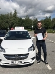 James passed with Burwell Driving School
