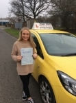 Mia passed with John Jervis Driving School