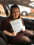Bethany passed with John Jervis Driving School