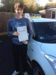Jacob passed with John Jervis Driving School