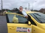Jordan passed with John Jervis Driving School
