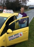 Sam passed with John Jervis Driving School