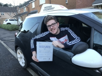 """Hi kess thanks  to  Eamon for helping me pass first time, great instructor, great lessons and all round great driving school"""" thanks again."""