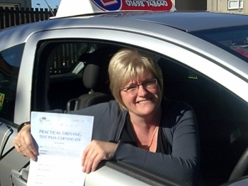 Congratulations to Ann on passing first time
