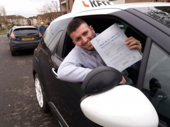 Thanks again Eamon what a great instructor very easy to learn from and very patient also a good vibe to be around when learning to drive