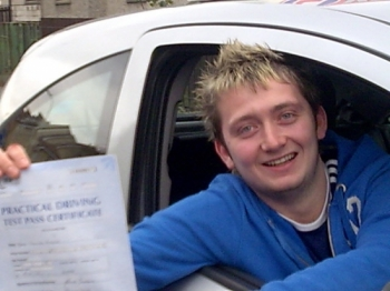 Mark had a fantastic drive with only two minorsHe well deserves his licence to drive