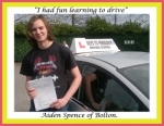 Aiden Spence of Bolton. passed with Keys to Freedom Driving School Bolton