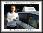 Amy Carter of Bolton. passed with Keys to Freedom Driving School Bolton