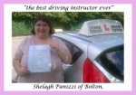Shelagh Panizzi of Bolton. passed with Keys to Freedom Driving School Bolton