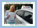 Diane Whittle of Bolton. passed with Keys to Freedom Driving School Bolton