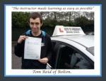 Thomas Reid of Bolton passed with Keys to Freedom Driving School Bolton