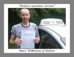 Marc Wilkinson of Bolton. passed with Keys to Freedom Driving School Bolton