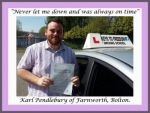 Karl Pendlebury of Bolton. passed with Keys to Freedom Driving School Bolton