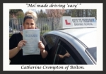 Catherine Crompton of Bolton. passed with Keys to Freedom Driving School Bolton