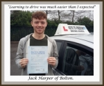 Jack Harper, Bolton. passed with Keys to Freedom Driving School Bolton