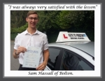 Sam Hassall of Bolton. passed with Keys to Freedom Driving School Bolton