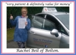 Rachel Bell of Bolton. passed with Keys to Freedom Driving School Bolton