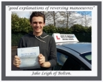 Jake Leigh of Bolton. passed with Keys to Freedom Driving School Bolton
