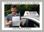 Josh Pollard of Bolton. passed with Keys to Freedom Driving School Bolton